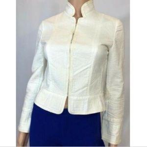 Elie Tahari Woman's Jacket Blazer White Collar XS